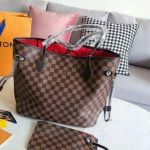 New Louis Vuitton Neverfull MM Tote Handbag Purse